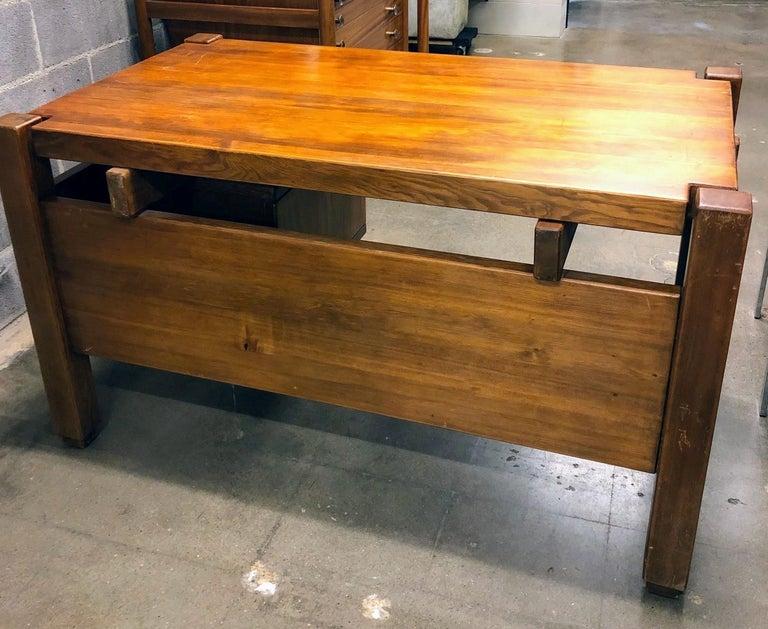 Pierre Chapo Style Desk, France, 1960s For Sale 11