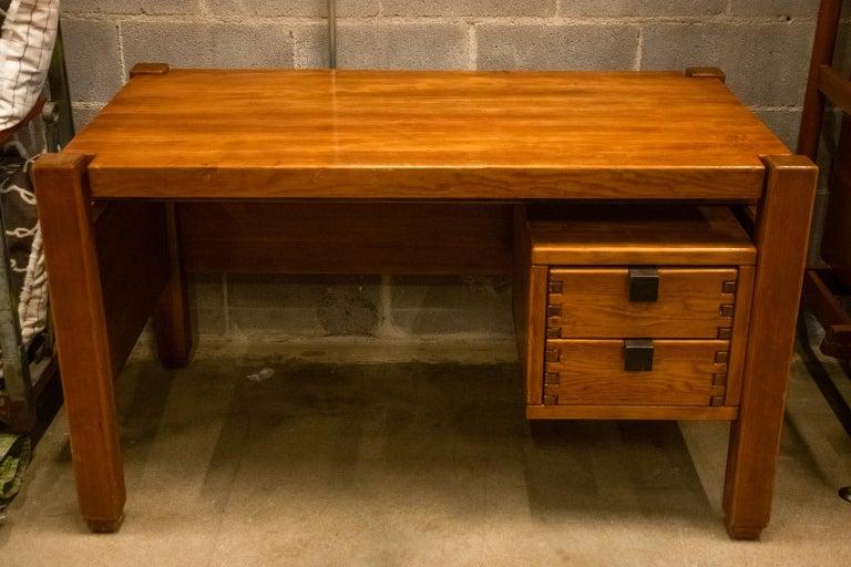 Mid-Century Modern Pierre Chapo Style Desk, France, 1960s For Sale