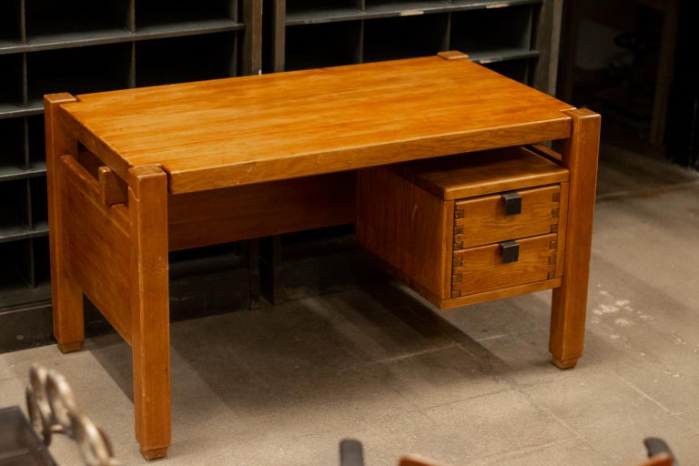 French Pierre Chapo Style Desk, France, 1960s For Sale