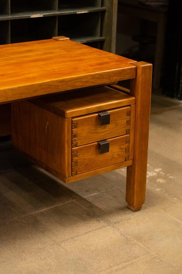 Mid-20th Century Pierre Chapo Style Desk, France, 1960s For Sale