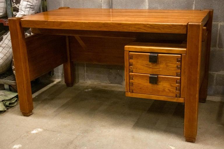 Metal Pierre Chapo Style Desk, France, 1960s For Sale