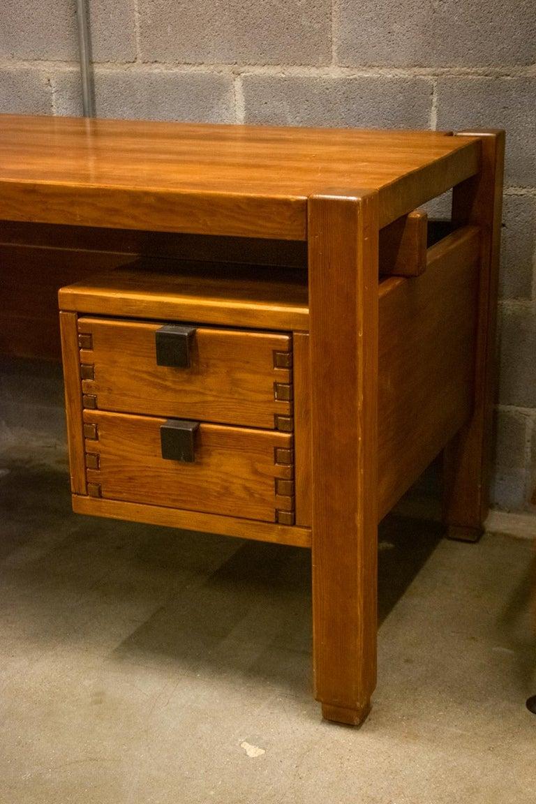 Pierre Chapo Style Desk, France, 1960s For Sale 1