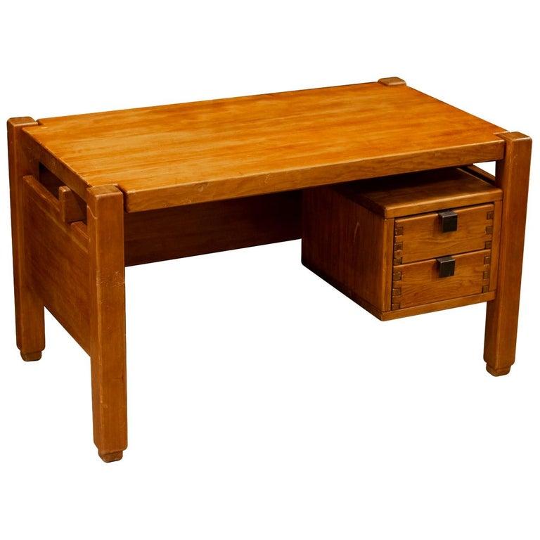 Pierre Chapo Style Desk, France, 1960s For Sale