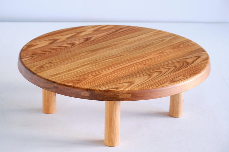 Pierre Chapo T02 Dining Table in Solid Elm, Chapo Creation, France For Sale 3