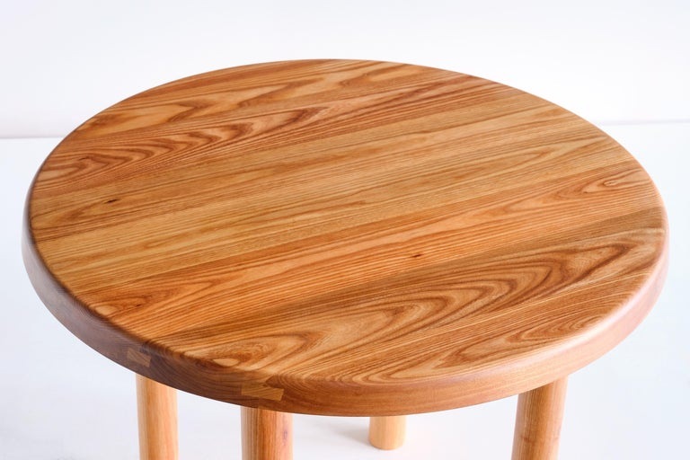Mid-Century Modern Pierre Chapo T02 Dining Table in Solid Elm, Chapo Creation, France For Sale