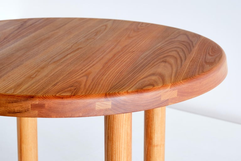 Pierre Chapo T02 Dining Table in Solid Elm, Chapo Creation, France In New Condition For Sale In The Hague, NL