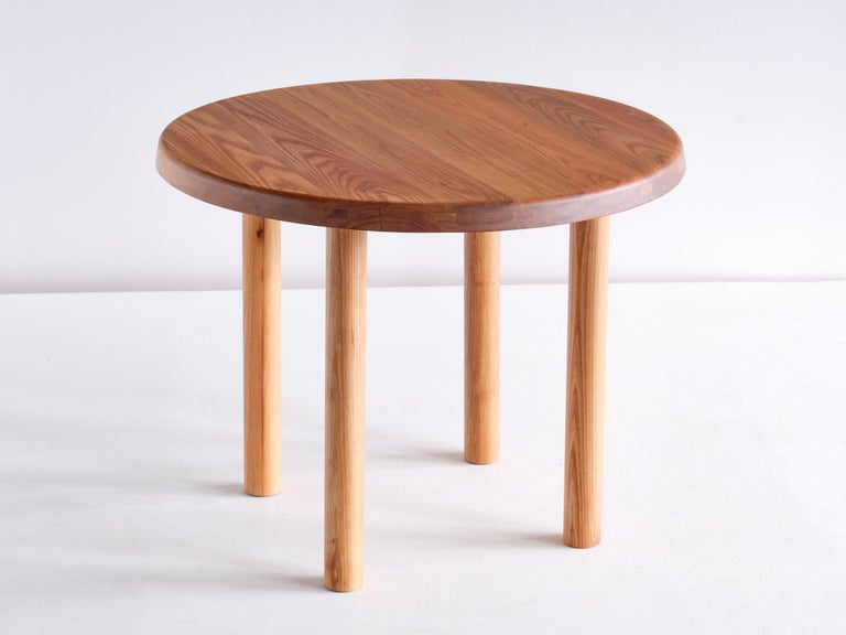 Contemporary Pierre Chapo T02 Dining Table in Solid Elm, Chapo Creation, France For Sale