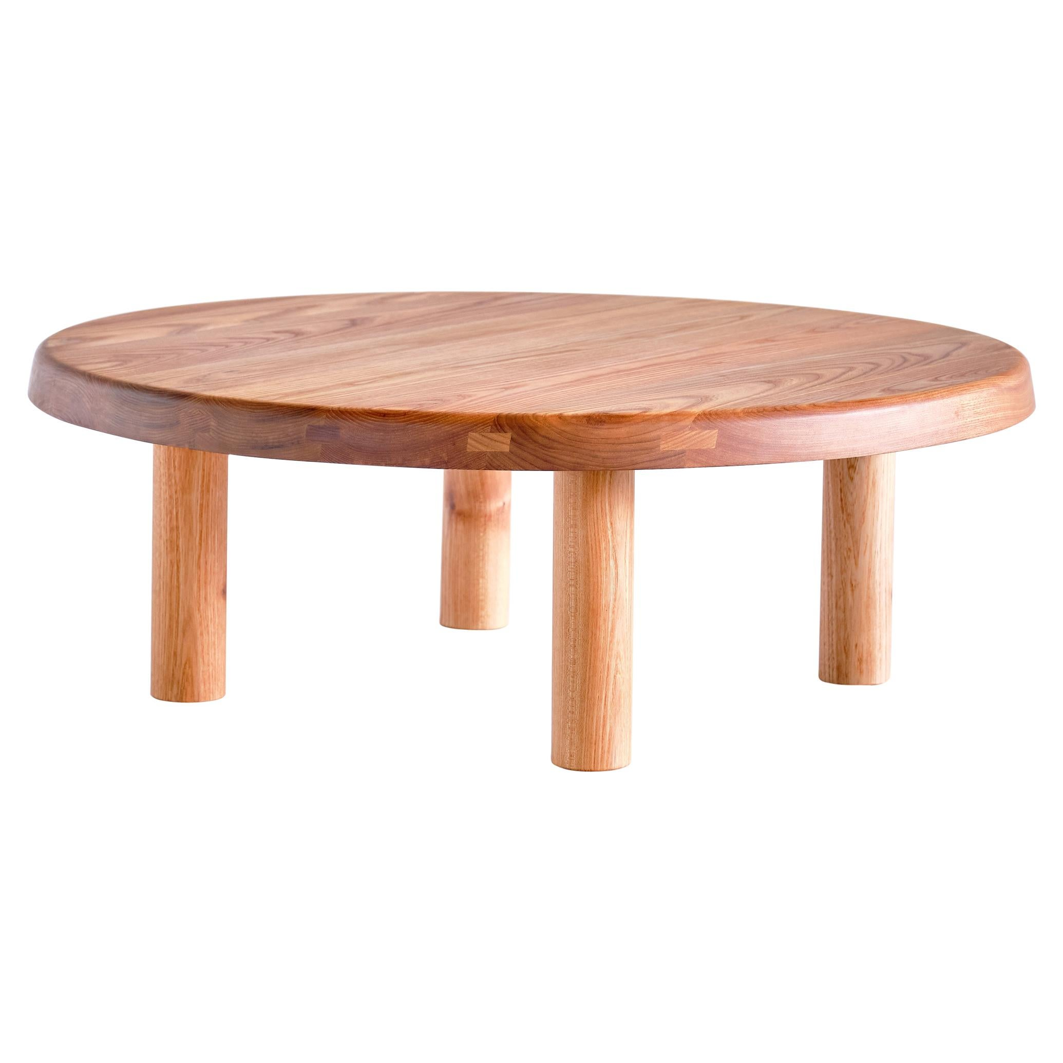 Pierre Chapo T02M Coffee Table in Solid Elm, Chapo Creation, France
