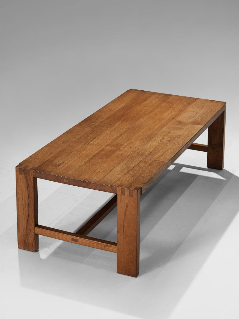 Mid-Century Modern Pierre Chapo T06A Coffee Table in Solid Elm For Sale