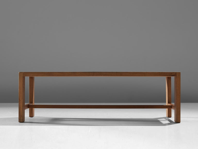 French Pierre Chapo T06A Coffee Table in Solid Elm For Sale