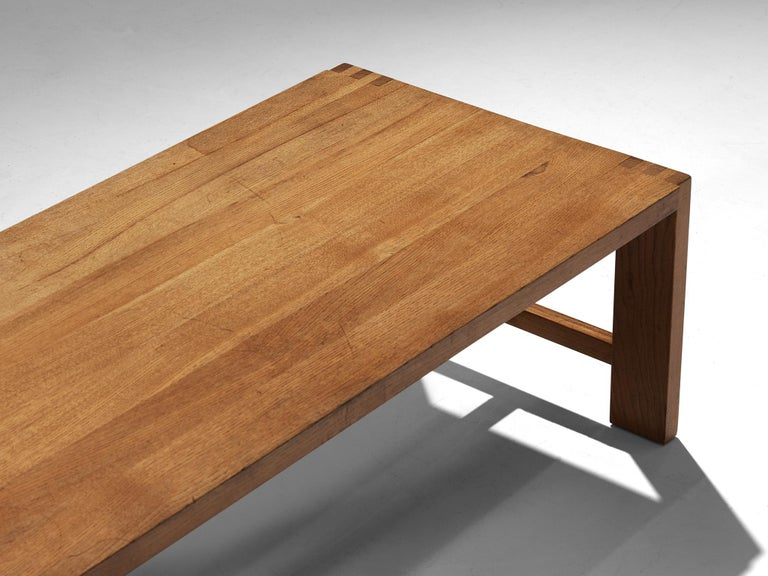 Pierre Chapo T06A Coffee Table in Solid Elm In Good Condition For Sale In Waalwijk, NL