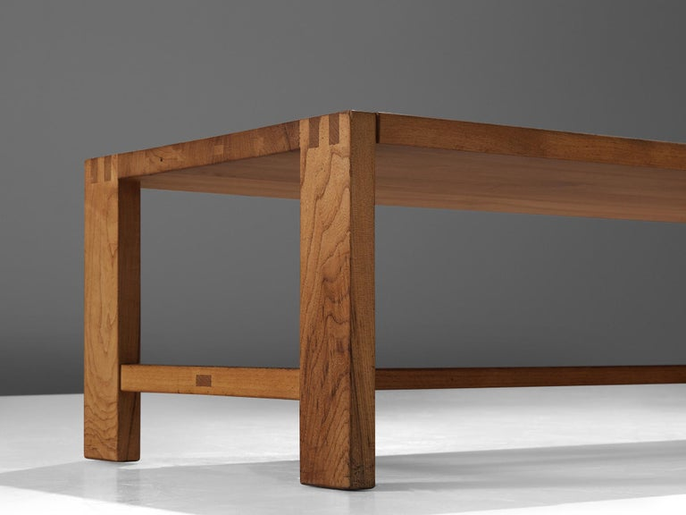 Mid-20th Century Pierre Chapo T06A Coffee Table in Solid Elm For Sale