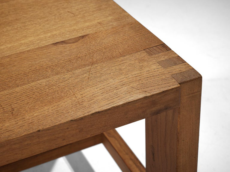 Pierre Chapo T06A Coffee Table in Solid Elm For Sale 1