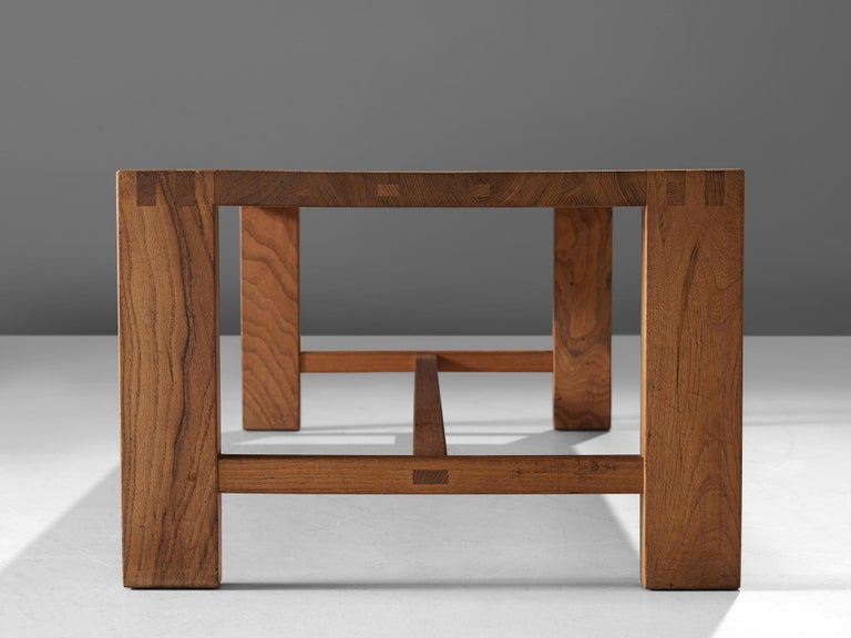 Pierre Chapo T06A Coffee Table in Solid Elm For Sale 2