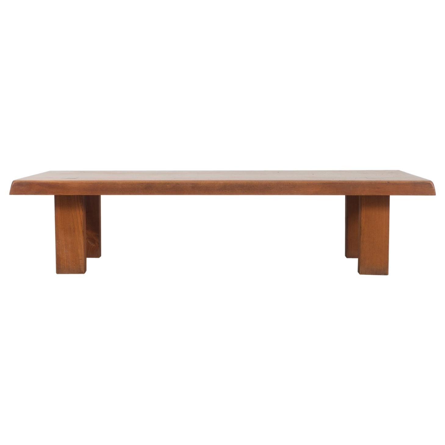 "Pierre Chapo, ""T08"" Coffee Table, circa 1965, Elm"