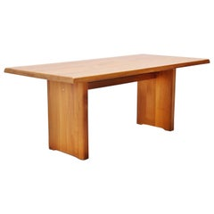 Pierre Chapo T14 Dining Table in Elm, France, 1963