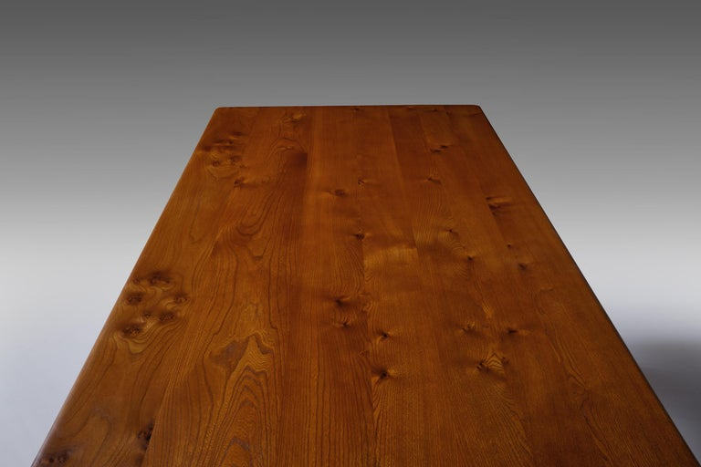 Pierre Chapo 'T14C' Dining Table in Solid Elm 1