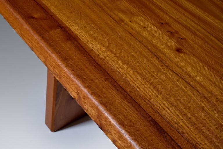 Pierre Chapo 'T14C' Dining Table in Solid Elm 3