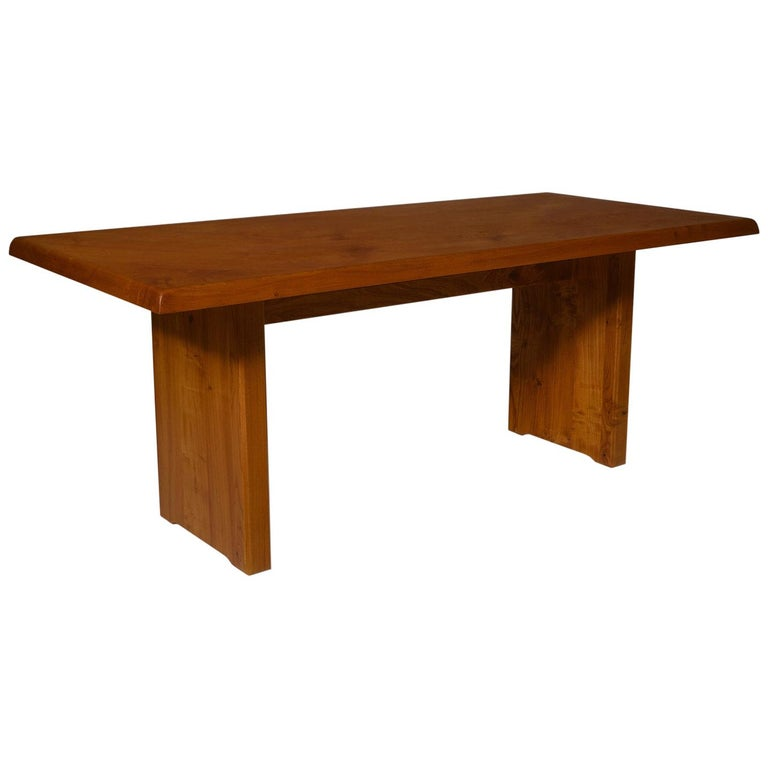 Pierre Chapo 'T14C' Dining Table in Solid Elm