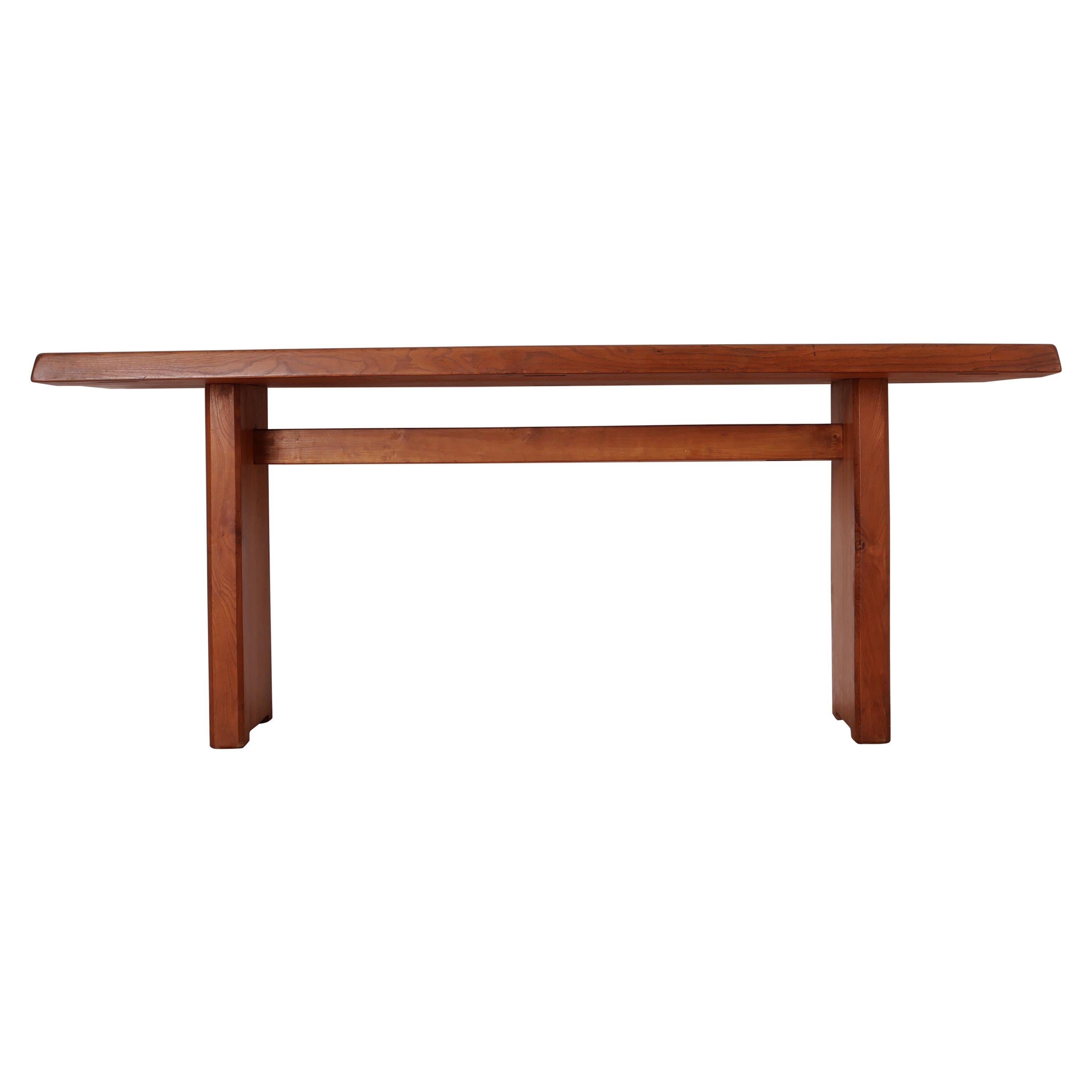 Pierre Chapo T14C Dinning Table, French Elm, circa 1971