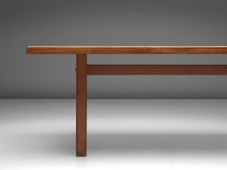 Mid-20th Century Pierre Chapo 'T14D' Table in Solid Elm For Sale