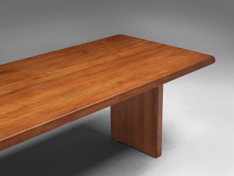 Pierre Chapo 'T14D' Table in Solid Elm For Sale 1