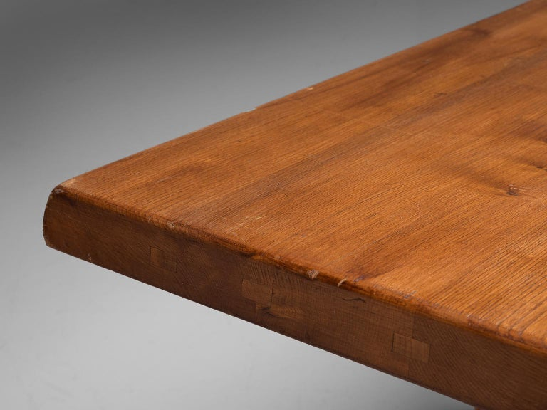 Pierre Chapo 'T14D' Table in Solid Elm For Sale 2