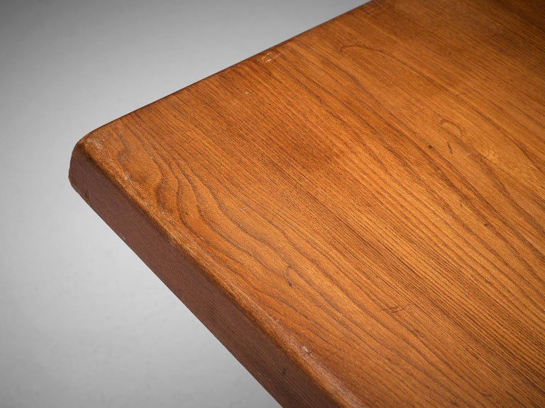 Pierre Chapo 'T14D' Table in Solid Elm For Sale 3
