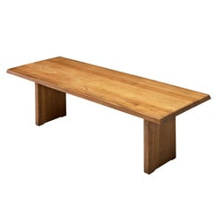 Pierre Chapo 'T14D' Table in Solid Elm