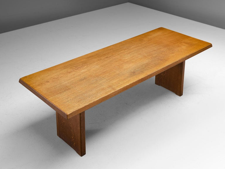 Pierre Chapo 'T14D' Table in Solid Oak For Sale 2