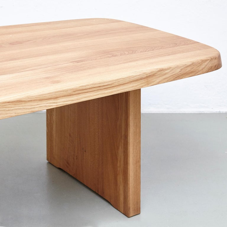 Pierre Chapo Mid Century Modern T20A Wood French Dining Table  For Sale 2