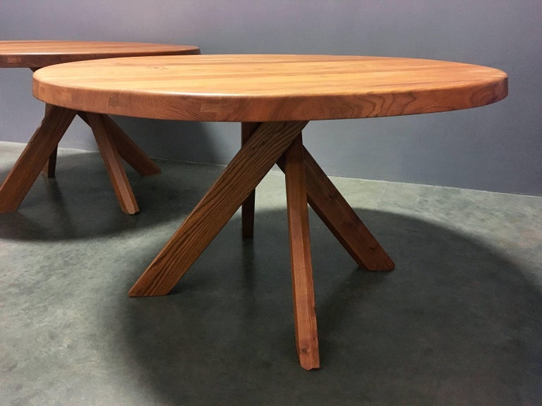 Mid-Century Modern Pierre Chapo T21 Dining Table For Sale
