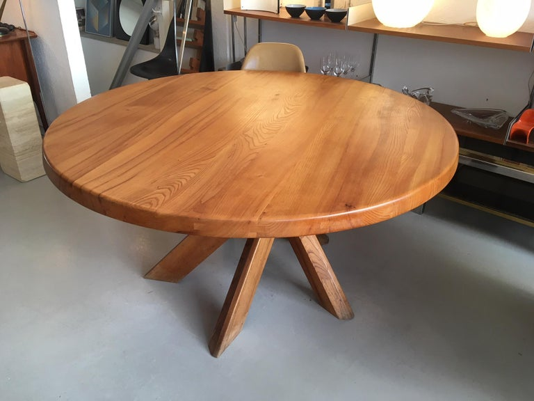 Elm Pierre Chapo T21 Dining Table For Sale