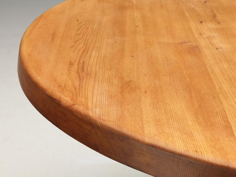 Pierre Chapo T21 Dining Table in Solid Elm For Sale 4