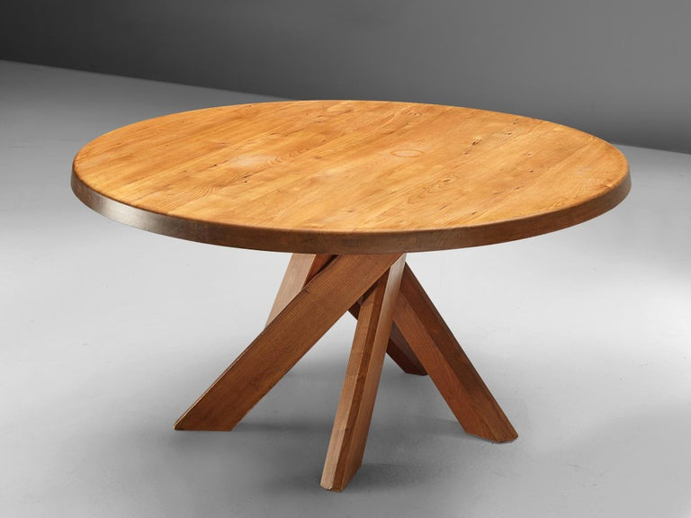 Mid-20th Century Pierre Chapo T21 Dining Table in Solid Elm For Sale
