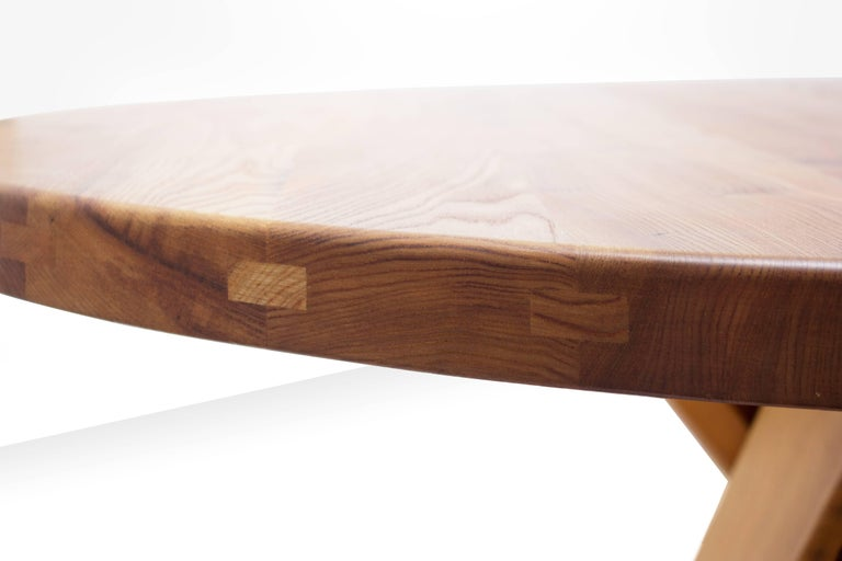 Mid-20th Century Pierre Chapo T21 Dining Table in Solid Elm, France, 1960s For Sale