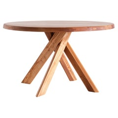Pierre Chapo T21B Dining Table in Solid Elm, Chapo Creation, France