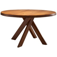 """Pierre Chapo """"T21C - Sfax"""" Dining Table, France, 1960s"""