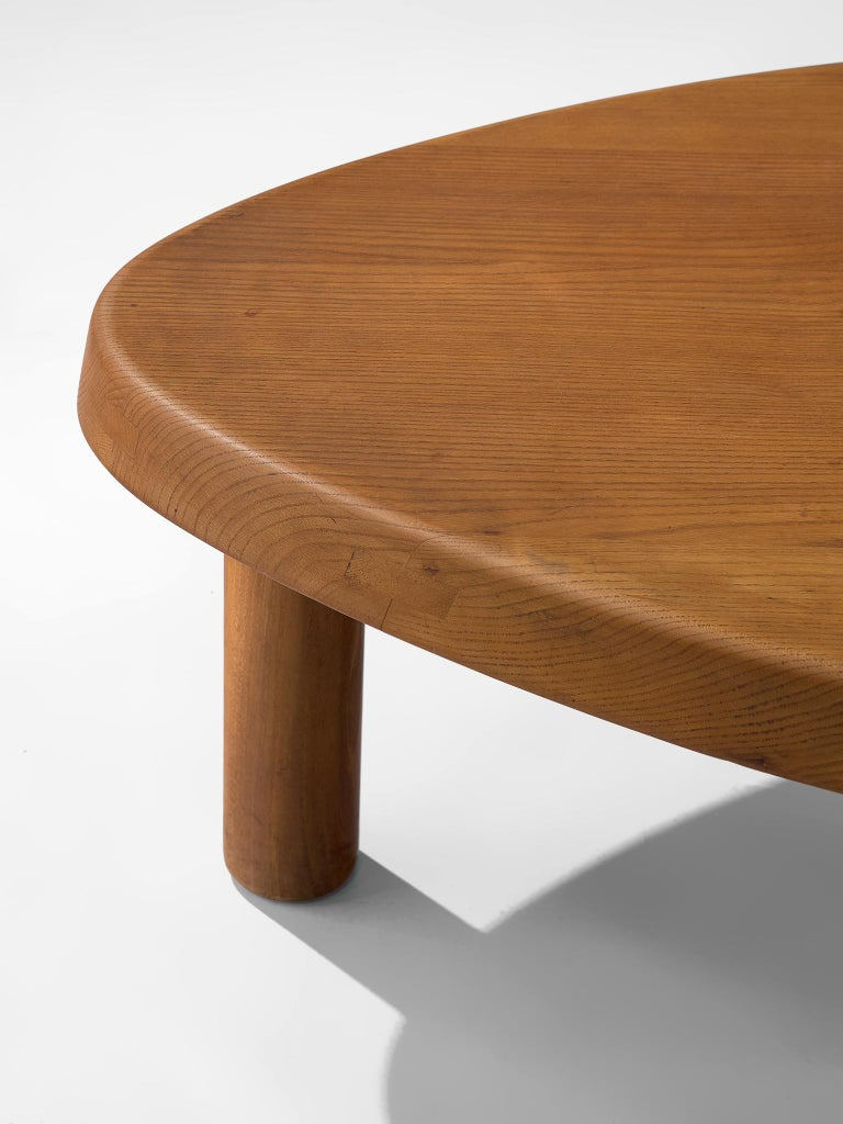 Mid-20th Century Pierre Chapo 'T23' Side Table in Solid Elm For Sale