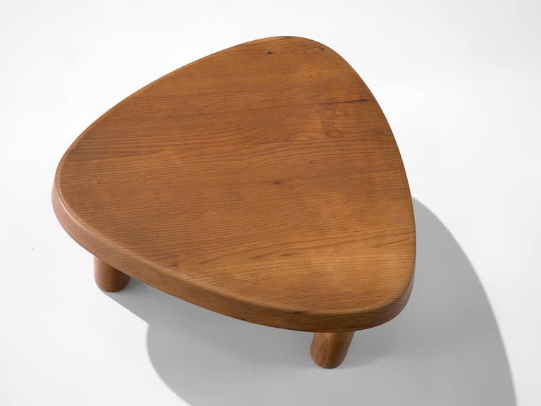 Pierre Chapo 'T23' Side Table in Solid Elm For Sale 1