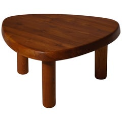 Pierre Chapo 'T23' Solid Elm Side Table