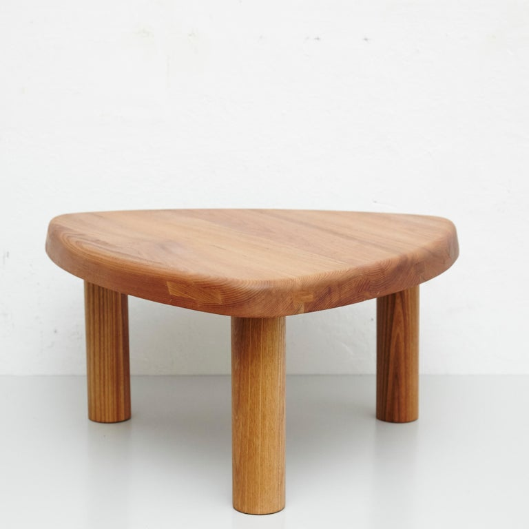 Table model T23 designed by Pierre Chapo, circa 1960. Manufactured in France by Fidel Chapo on 2019.  Solid elmwood.  In good original condition, with minor wear consistent with age and use, preserving a beautiful patina.  Pierre Chapo is
