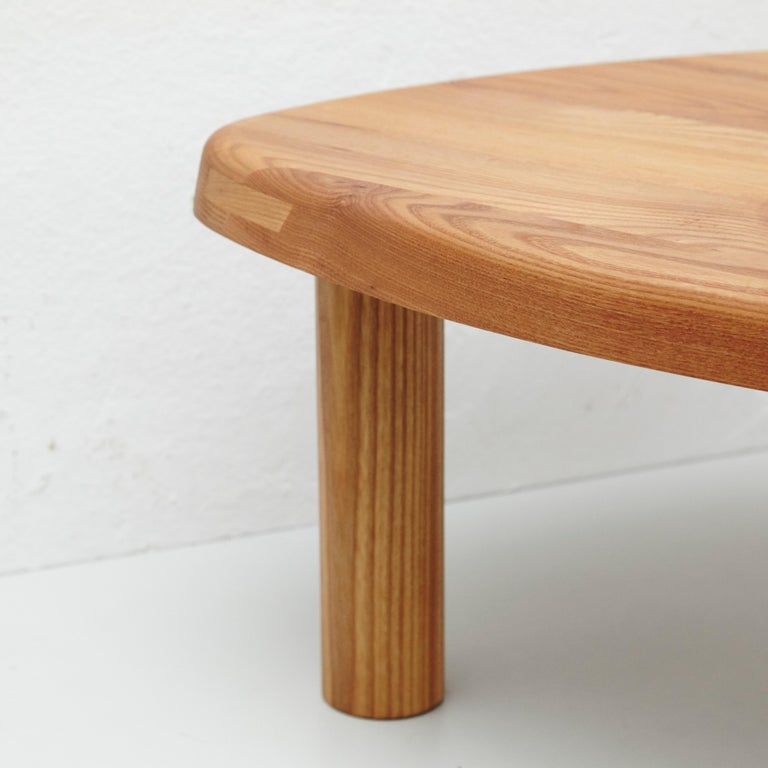 Mid-Century Modern Pierre Chapo T23 Solid Elm Wood Formalist Side Table For Sale