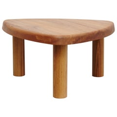 Pierre Chapo T23 Solid Elm Wood Formalist Side Table