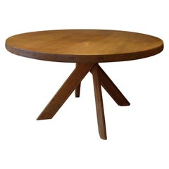Pierre Chapo Table T21d in Solid Elm Produced in the 1970s