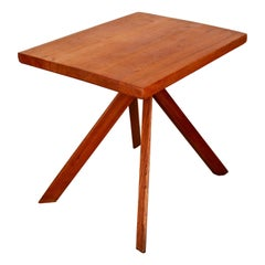 "Pierre Chapo Table T27A Known as ""Rectangulaire table"" in Elm, 1970"