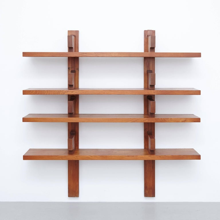 Pierre Chapo Wall Mounted Book Shelves Circa 1960 For Sale At 1stdibs