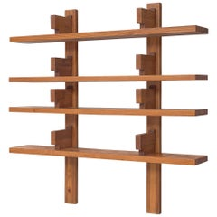 Pierre Chapo Wall Unit Model 'B17' in Solid Elm