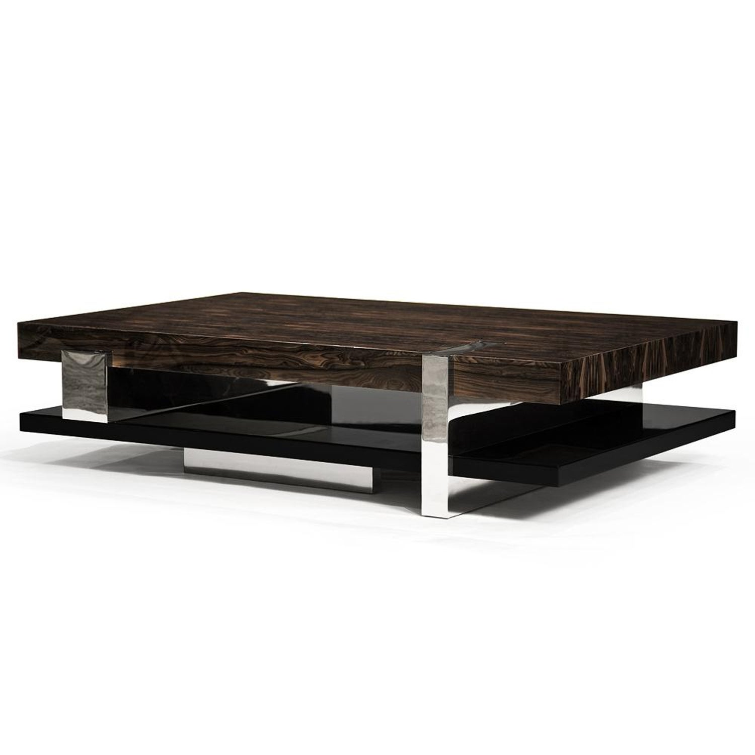 Pierre Coffee Table Bronze Ziricote Black Lacquer By Hudson For