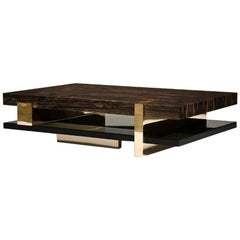 Pierre Coffee Table 'Bronze, Ziricote, Black Lacquer' by Hudson